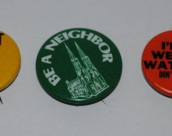 Vintage Social Political Activism Funny Buttons