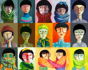 Glasses  Big print, poster