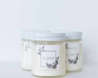 Grapefruit | Soy Candles & Essential Oils | 8oz Reusable Glass Jar