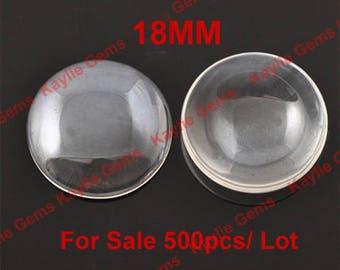 Sale 1000pcs 18mm Round Clear Glass Cabochon Wholesale