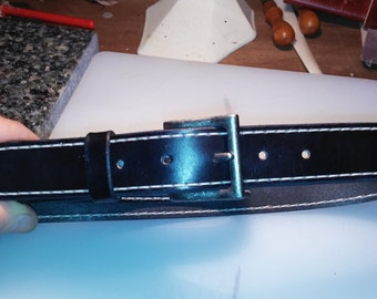 Item B-10 belt with double stitching make by hand to order