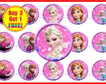 Frozen Bottle Caps Images - Disney Frozen - Bottle Cap Images - Instant Download - High Resolution Images - Buy 3, Get 1 FREE