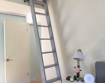 Wood Ladder, Custom Wood Ladder, Library Ladder, Rolling Ladder, Closet Ladder, Loft Ladder, Kitchen Ladder built-to-order