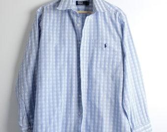 Vintage 80's Blue Ralph Lauren polo