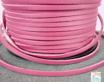2 meters (fil58) pink old leather look cord