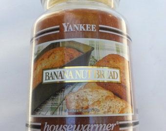 Yankee Candle , Black Band ,Banana Nut Bread, rare black band