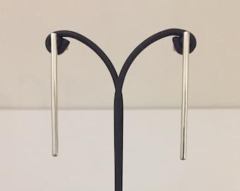 925 Silver ingot Earrings