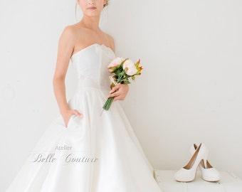 Custom Made & Handmade - 50s Tea-Lenght Wedding Dress item: Shiva