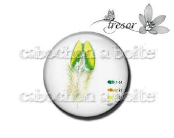 PA642 glasses, Retro, feathers, color manual cabochons