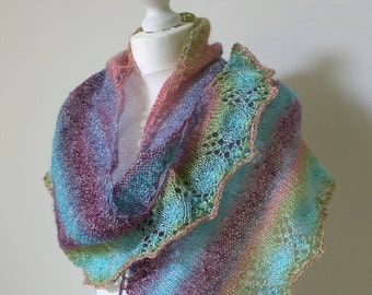 Shawl Knitting Pattern - Midsummer Nights - PDF Knit Shawl Pattern