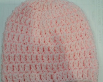 Pink Solid color  beanie