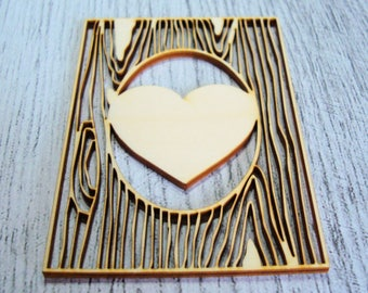 Has a cut out of wood for your creative heart 1073