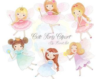 Cute Fariy Clipart, Fairy clipart PNG file-300 dpi.