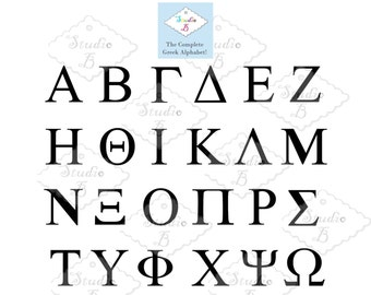 Greek Alphabet, SVG Cutting Files
