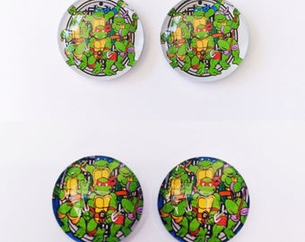 The 'TMNT' Glass Earring Studs