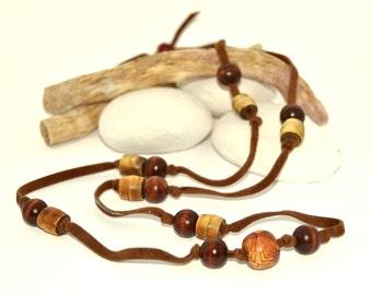 Long necklace rustic - Boho style