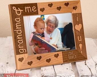 Grandma Mothers Day Gift - Personalized Gifts for Grandma -Grandma & Me Picture Frame - Grandma and Me - Christmas Grandma Gift