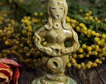 Goddess statue, Ceramic Statue, Goddess figurines, Ceramic miniatures, Fertility figurines, Altar figurines, Goddess art, Spiritual gift