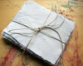 40 sheets of 4x5 inch white handmade paper