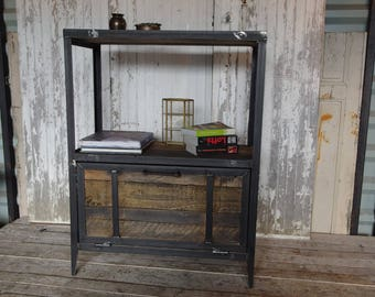 Steel and wood, industrial style furniture