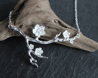 Necklace cherry Blossoms II cherry blossom 925 sterling silver