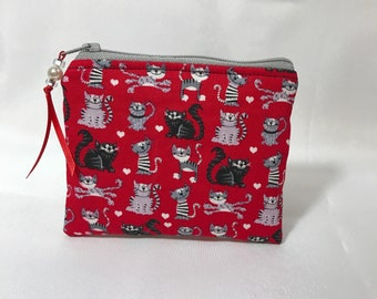 Cats Kitties Cat Lover Coin Purse, Pouch. Mini Wallet, Makes A Great Gift!