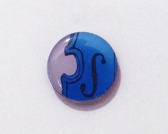 Blue Violin Refrigerator Magnet / Violin Fridge Magnet / Viola / Musical Instrument / Music Teacher Gift / Stringed Instrument