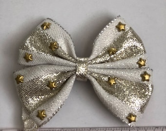 Gold with stars bow