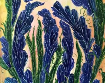 Purple Garden by Maria Zeiour