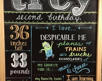 Child's Birthday Board