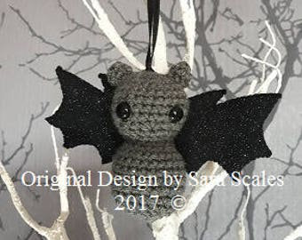 Cute, Kawaii, Hand crochet amigurumi bat