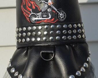 Dog Tutu Dress, Motorcycle Biker Tutu