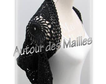 Crochet black Bolero jacket