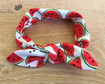Baby Head Wrap - Watermelon Headband - Top Knot Headband - Girls Head Wraps - Baby Turban - Baby Head Wrap - Baby Headband - Baby Headwrap