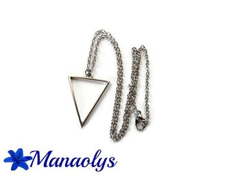 Triangle, silver, minimalist necklace