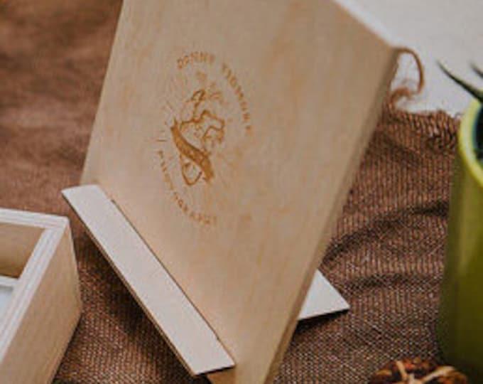 custom - 5x7 - print stand wood print box (no USB area)