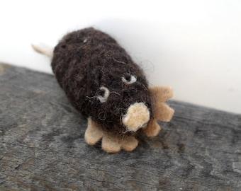 Catnip Cat toy mole, needle felted