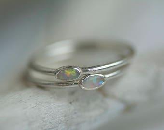 White Opal Ring. Opal Ring. Copper White Opal Ring. Tiny Opal Ring. Tiny White Opal Ring. Electroformed White Opal Ring.