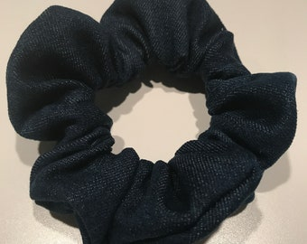 Dark denim scrunchie
