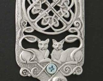 Celtic Cats Wall Hook