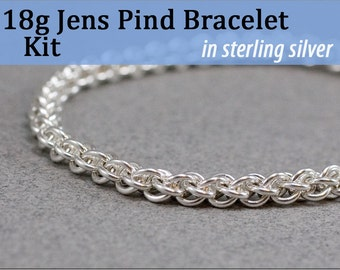 18g Jens Pind Bracelet Chainmaille Kit in Sterling Silver