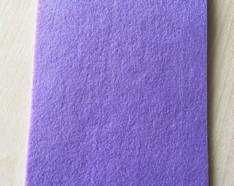 Coupon of 3 mm thick lilac felt