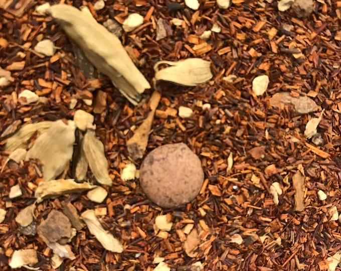 Herbal Chocolate Chai Decaf Loose Tea | 4 oz. Custom Blend Loose Leaf Tea | Rooibos Tea, ginger, cardamom | Dessert Tea