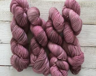 Hand Dyed Yarn - Indie Dyed Yarn - MCN Yarn - Merino Cashemere Nylon - Sherry