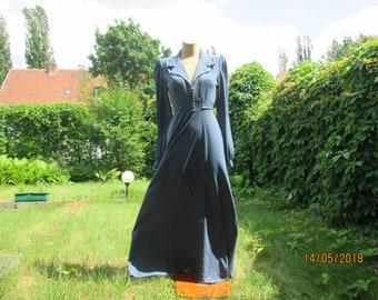 Long Dress / Dress Vintage / Dress Maxi / Dress for Tall / Size EUR38 / UK10 / Steel Blue Dress / Floor Length Dress