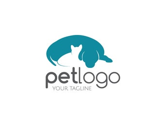 Pet Shop Logo, Pet Logo, Dog Logo, Cat Logo, Animal Logo, Premade Logo, Logo Design, Graphic Designer