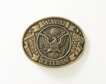 Belt Buckle WWII Buckle Eagle Belt Buckle WWII Veterans Souvenir