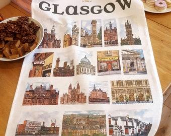 Glasgow Tea Towel