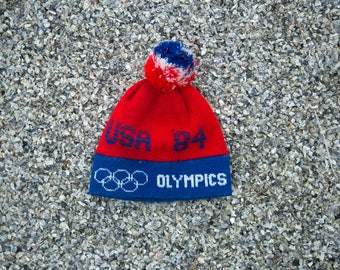Rare 1984 Vintage Olympic USA Beanie One size