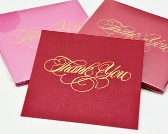 12 Thank You Greetings Card / Gift Card / Money Envelopes